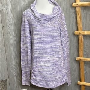 Lucy Surrender Cowl Neck Hooded Pullover Medium